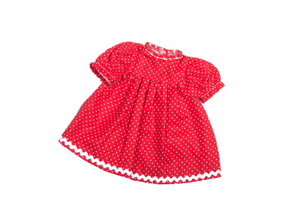 Dolls Dress 'Baby' red (30 cm)