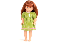 Dolls Dress 'Sister' lime (40 cm)