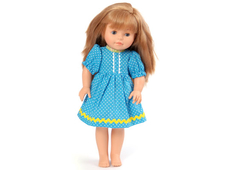 Dolls Dress 'Sister' turquois (40 cm)