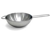 Wok pan in metal