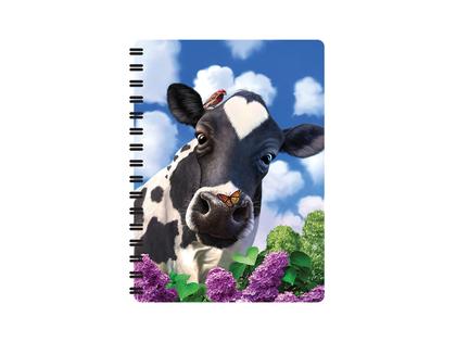 Anteckningsbok 3D Nyfiken ko (liten)