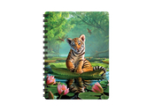 Notebook 3D Tiger Lily (small)