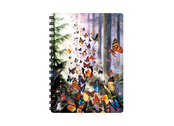 Notebook 3D Butterfly Woods small