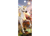 Bookmark 3D Unicorn Evening Star