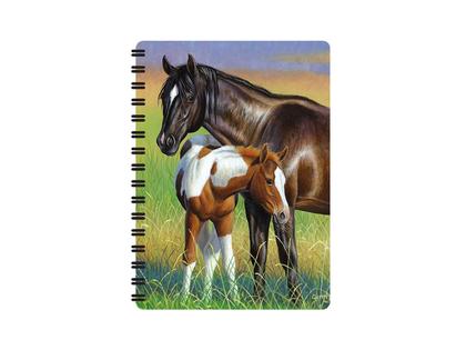 Anteckningsbok 3D Häst & Föl liten