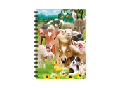 Notebook 3D Baby Farm Animals small