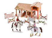 Stable with Papo figurines
