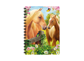 Anteckningsbok 3D Häst & Två Föl liten