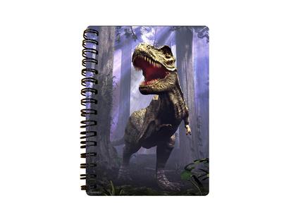 Anteckningsbok 3D T-Rex i skog (liten)