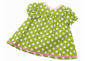 Doll dress 'Kiddy' lime/lg dot (40 cm)