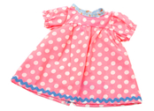 Doll dress 'Kiddy' pink/lg dot (40 cm)