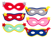 Mask 'Superhero' assorted