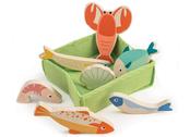 Seafood in basket