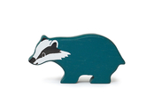 Badger in wood