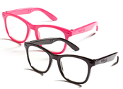 Glasses for dolls (black/pink)