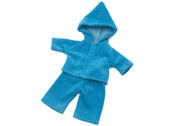 Doll clothes with hood turquoise (40 cm)