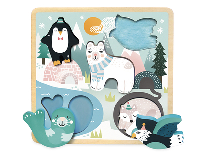 Puzzle touch 'Snow animals' Michelle Carlslund