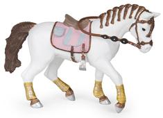Ryttare Häst med Flätad Man