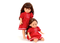 Doll Dress 'Sister' red (40 cm)