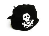 Piratklut Döskalle (svart)