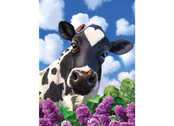 Picture 3D Curious Cow