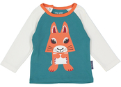Shirt raglan organic 'Squirrel'