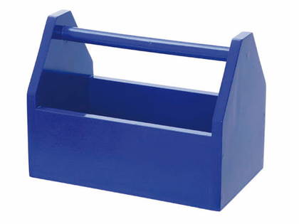 Verktygslåda trä (blå)