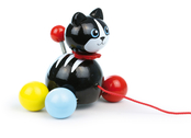 Pull Toy 'Cat Minou' black