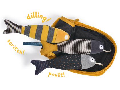 Aktivitets-sardiner 'Les Moustaches'