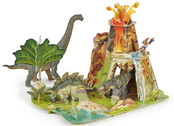 Volcano landscape model kit