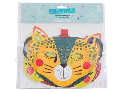 Masker 'Les Broc & Rolls' klara färger