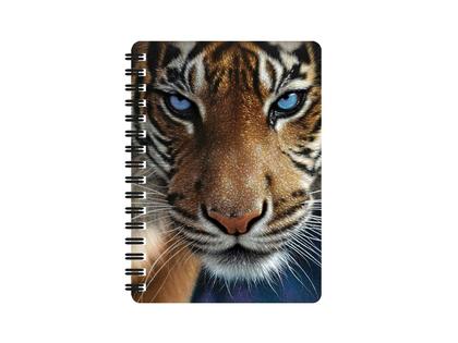 Anteckningsbok 3D Tiger blå ögon (liten)