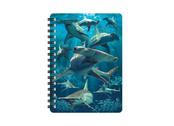 Notebook 3D Hammerhead Sharks (small)