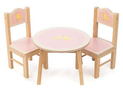 Dockbord med stolar